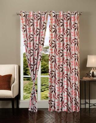 Brand Decor Polycotton Multicolor Printed Eyelet Window Curtain