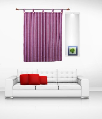 Lukluck Cotton Lavender Abstract Ring Rod Window Curtain