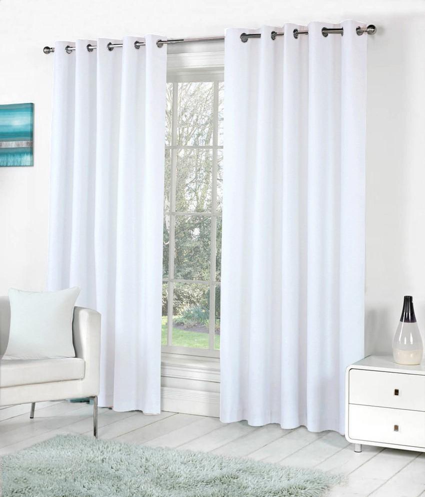 the decor store polyester white plain eyelet window curtain - The Decor Store