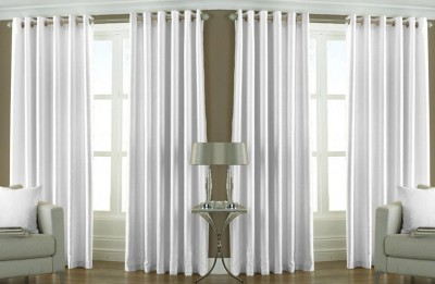 Fresh From Loom Polyester White Plain Curtain Long Door Curtain