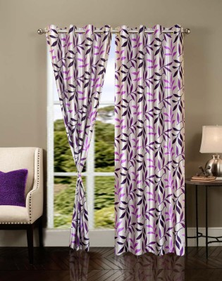 IWS Polyester Multicolor Self Design Eyelet Door Curtain