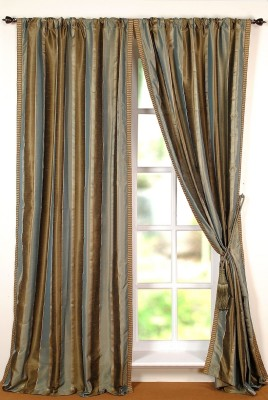 Deco Window Polyester Multicolor Geometric Eyelet Window Curtain