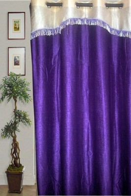 JBG Home Store Polyester Purple Solid Eyelet Door Curtain