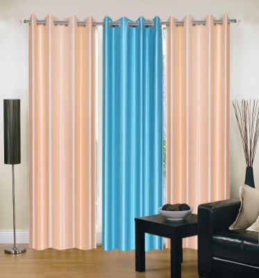 Swastik Polycotton Multicolor Plain Eyelet Window Curtain
