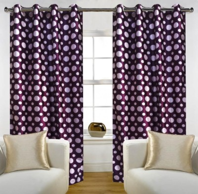 Home Candy Polyester Purple, Weight Abstract Eyelet Door Curtain