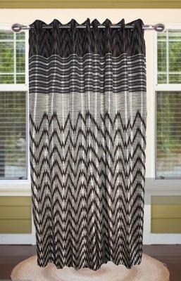 shoppeholics Blends Grey Abstract Eyelet Door Curtain