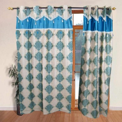 The Fancy Mart Polyester Multicolour Printed Eyelet Door Curtain