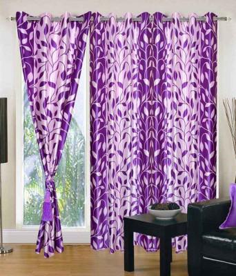 Jai Ganga Polyester Multi colour Printed Eyelet Door Curtain