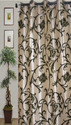 JBG Home Store Polyester Green Striped Eyelet Door Curtain
