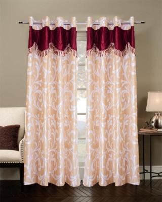 TT Polyester Beige Solid Eyelet Door Curtain