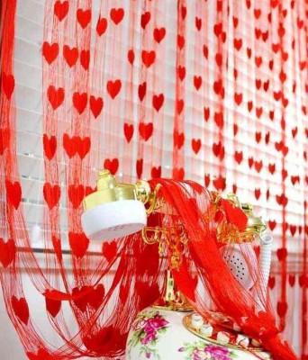 Homesazz Net Red Self Design Eyelet Door Curtain