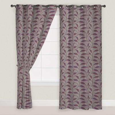 Presto Polyester Lavender Solid Eyelet Window Curtain