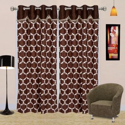 I Catch Blends Multicolor Geometric Curtain Door Curtain