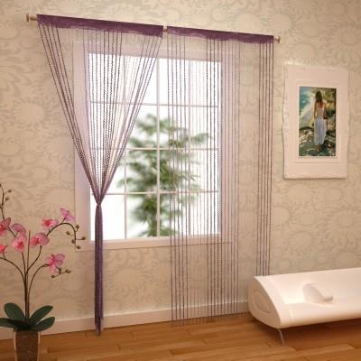 RAMCHA Polyester Purple Abstract Rod pocket Window & Door Curtain