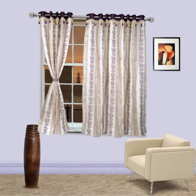 I Catch Blends Purple Floral Curtain Window Curtain