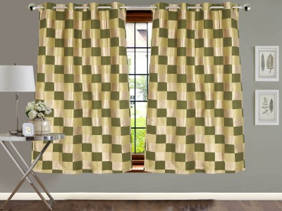 Vivace Homes Jacquard Multicolor Checkered Eyelet Window Curtain