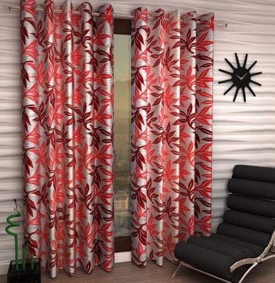 Home Fantasy Polyester Multicolor Abstract Eyelet Window Curtain