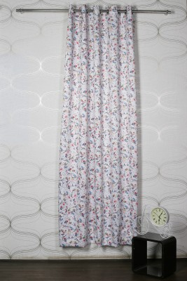 Homelife Polyester White Printed Eyelet Window Curtain