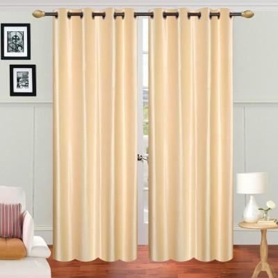 Decorista Polyester Off White Plain Rod pocket Door Curtain