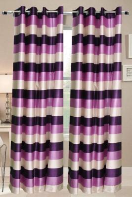 Valtellina Polyester Multicolor Geometric Eyelet Door Curtain