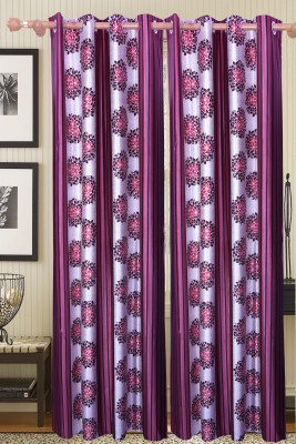 JASS HOME DÉCOR Polyester Multicolor Floral Curtain Door Curtain