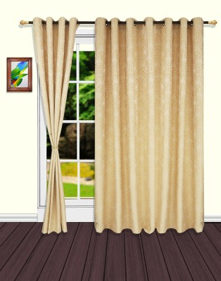 S9home by Seasons Door Curtain Polyester Beige Floral Eyelet Door Curtain