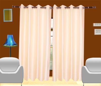 Shop24 Polyester Beige Solid Eyelet Door Curtain