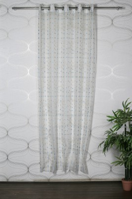 Homelife Polyester Multicolor Embroidered Eyelet Door Curtain