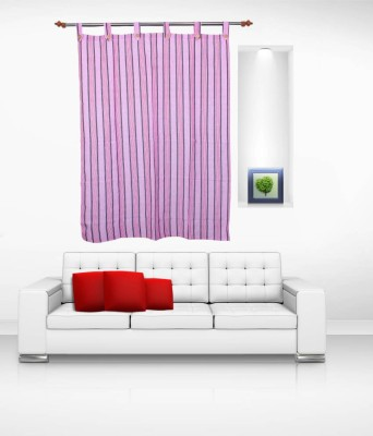 Lukluck Cotton Violet Abstract Ring Rod Window Curtain