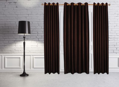 Batham Sales Blends Multicolor Plain Eyelet Door Curtain