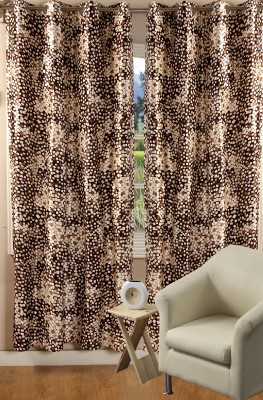 Nine Living Polyester Multicolor Printed Eyelet Window Curtain