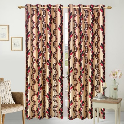 Handy Texty Polyester Multicolor Printed Eyelet Window Curtain