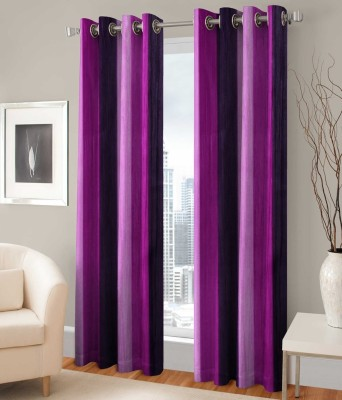 PHF Polyester Multicolor Plain Eyelet Door Curtain