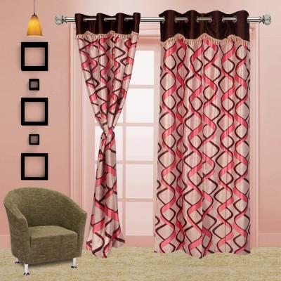I Catch Blends Purple Checkered Curtain Door Curtain