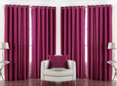 RedHot Polyester Maroon Plain Eyelet Long Door Curtain