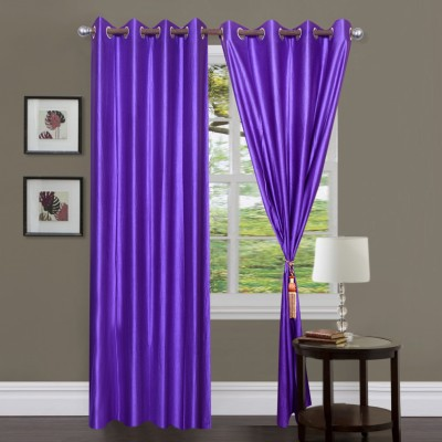 Dreamshomes Polyester Purple Solid Eyelet Door Curtain