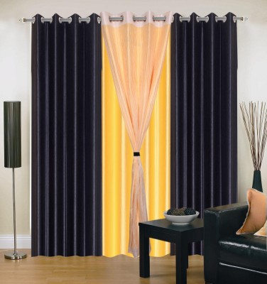 Madhav Product Polyester Multicolor Solid Eyelet Door Curtain