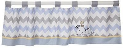 Lambs & Ivy Cotton Blue Printed Curtain Window Curtain