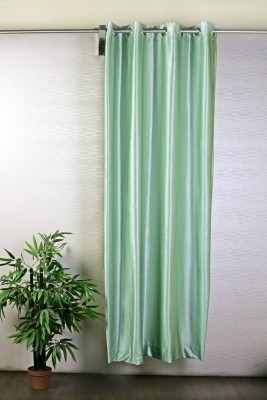 Pogo Polyester Green Solid Eyelet Door Curtain