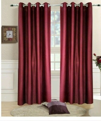Décor mania Polyester Multi colour Floral Curtain Window & Door Curtain