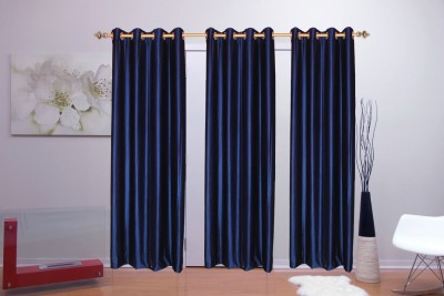 Batham Sales Blends Blue Plain Eyelet Long Door Curtain