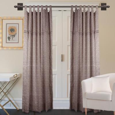 Marmitte Cotton Brown Printed Rod pocket Window Curtain