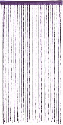 Ramcha Polyester Light Blue Self Design Rod pocket Door Curtain