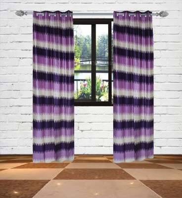 Gaurav Curtains Polyester Multicolor Floral Eyelet Window Curtain