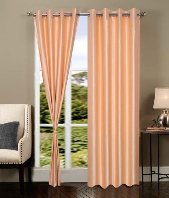 Ech Oly Polyester Orange Plain Eyelet Door Curtain
