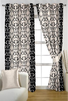 HOMEC Polyester Multicolor Printed Eyelet Window & Door Curtain