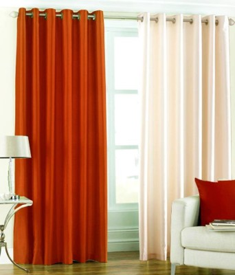 Angel Homes Polyester Multicolor Floral Eyelet Long Door Curtain