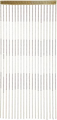 Ramcha Polyester Brown Self Design Rod pocket Door Curtain