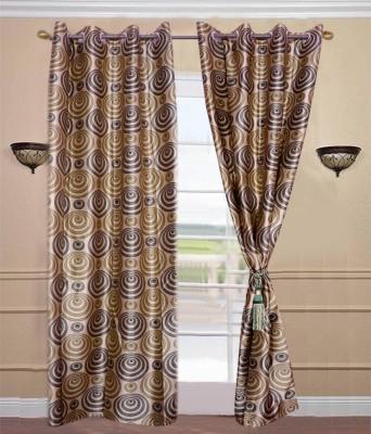 JTInternational Polyester Multicolor Solid Eyelet Door Curtain