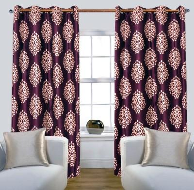 Glamora Interiors Polyester Purple Printed Curtain Window & Door Curtain